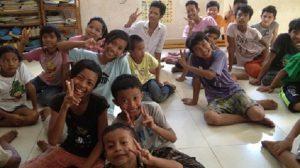 ▲「くっくま孤児院」の子どもたち