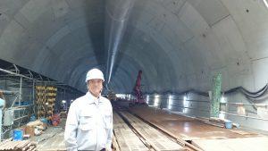 ▲工事中の常盤東トンネルの入口