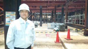 ▲常盤東開削トンネルの工事現場