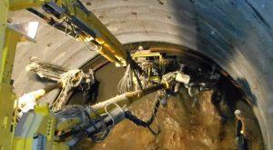 ▲第2工区内のトンネル掘削工事現場