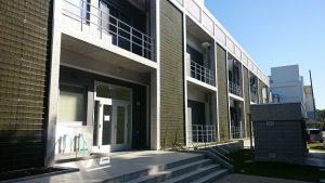 ▲将来的には壁面緑化される新棟