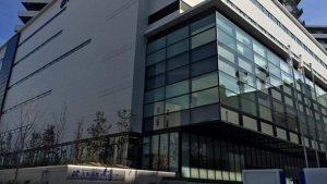 ▲大阪国際がんセンターの外観