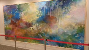 ▲院内に飾られた絵画