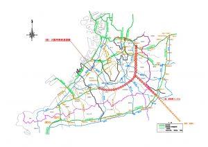 ▲大阪南部高速道路の計画図