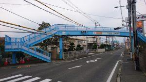 ▲改修後の松ヶ丘歩道橋