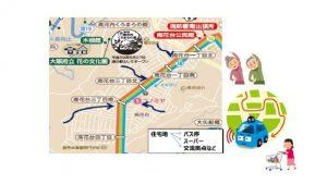 ▲自動運転サービスの走行ルート(イメージ)