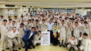 ▲クランクアップ報告会の様子(モリ工業にて)