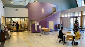 ▲オガールプラザ内の図書館