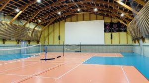 ▲オガールベース内のバレーボール専用体育館