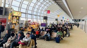 ▲仙台空港のタ出発ターミナル