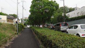 ▲渋滞する高向南交差点の様子