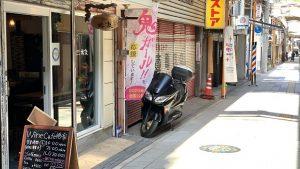 ▲『椿家』がある河内長野駅前商店街